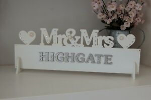 Mr mrs wedding sign mr and mrs top table decoration all colours image is loading mr amp mrs wedding sign mr and mrs junglespirit Images