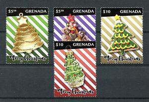 Grenada 2016 MNH Christmas Decorations Ornaments 4v Set Stamps