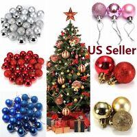 Us Ship 24pcs Christmas Tree Xmas Balls Decorations Baubles Party Ornament