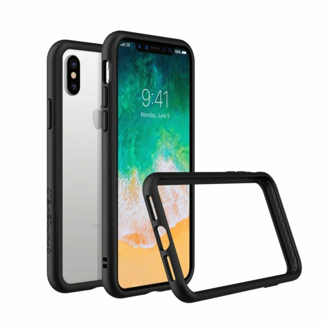 Perfekt IPhone X Slim Bumper Case [Crashguard] Shock Absorbent Protective Cover    Black