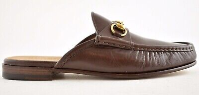 Gucci Mens Quentin Open Roos Brown Slip