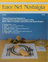 Lace Net Nostalgia Darning Charts Patterns Place Setting Pillow Decor 1984