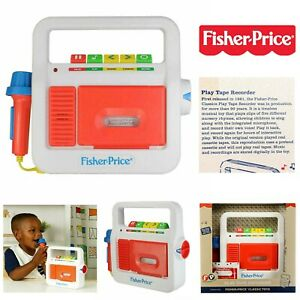 Fisher-Price-Kids-Classic-Play-Tape-Recorder-Childrens-Retro-Cassette-Player-Toy