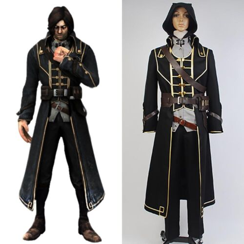 Dishonored 2 Corvo Attano Outfit COSplay Costume Halloween Uniform Suit