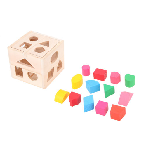 Kids Baby Kids Wooden Geometry Building Block Early Learning Educational Toys