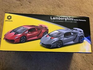 Details about BRAHA FRICTION Lamborghini Sesto Elemento 124 SCALE Red,  Silver/Gray