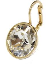 Swarovski Elements Clear Bella Earrings Gold Plated Dangle Earrings
