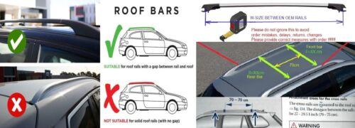Lockable AeroWingBar Roof Rack Cross Bar Set Fits Volkswagen Touran I 2006-2010