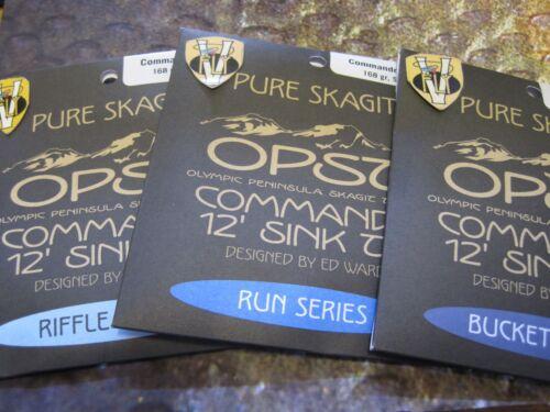 Bucket Run /& Riffle 96 132 /& 168 gr OPST 12 Foot Skagit Commando Sink Tips
