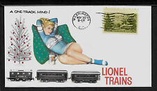 1950s Lionel Trains & Pin Up Girl Featured on Xmas Collector's Envelope *A382