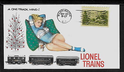 1950s Lionel Trains Pin Up Girl Poster Reprint On Original Period Paper *P063