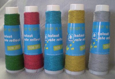 hatnut safe reflect reflektierendes Garn z MitstrickenHäkeln Wolle Farbe blau