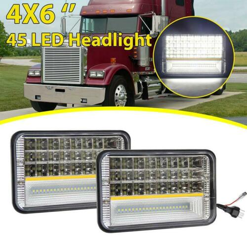 "2PCS 4X6/"" LED Headlight Sealed Lamp for Chevy Express Cargo Van 1500 2500 3500"