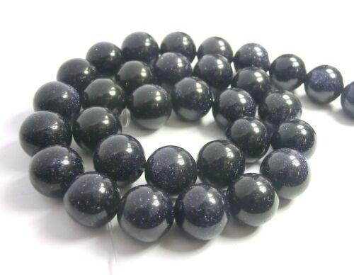 Blaufluss 12 mm bleu perles environ Bijoux Perles 1 Strang