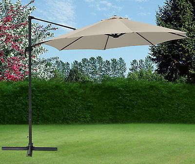 Top Quality 3M Cantilever Garden Parasol Banana Patio Garden Umbrella Sun Shade