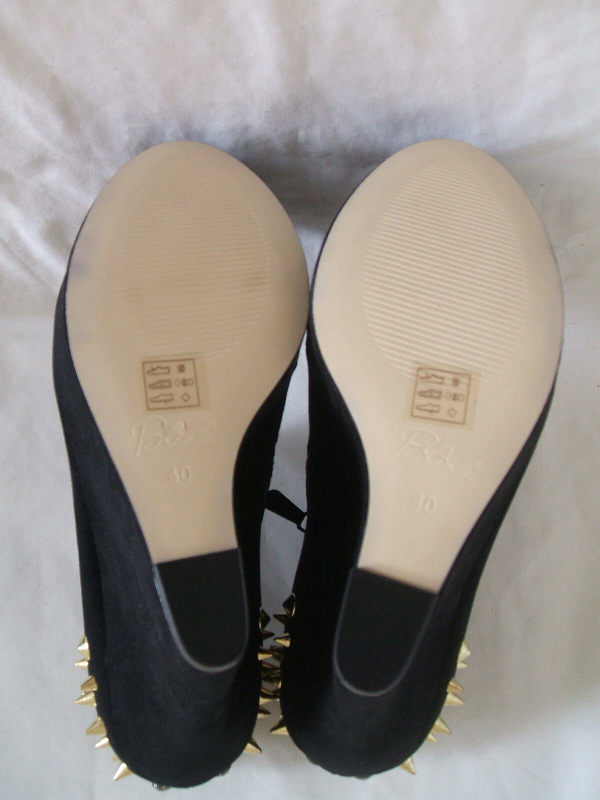 NEW BLINK SIZE 3 OR 7 BLACK FAUX SUEDE SHOE GOLD STUD WEDGE ANKLE SHOE SUEDE Stiefel 5e4af6