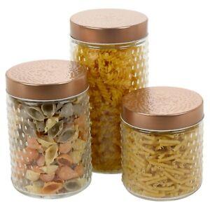 Dettagli su ERMETICI ed a tenuta ermetica Preservare Barattoli Vetro  Contenitori di conservazione del cibo cucina design- mostra il titolo  originale