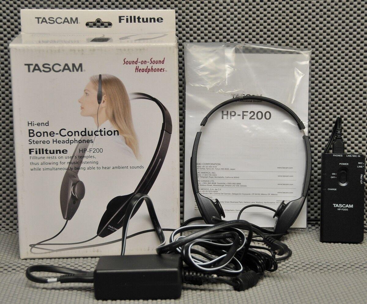 Tascam Teac Filltune HP-F200 Hi-end Bone-Conduction Stereo Headphones