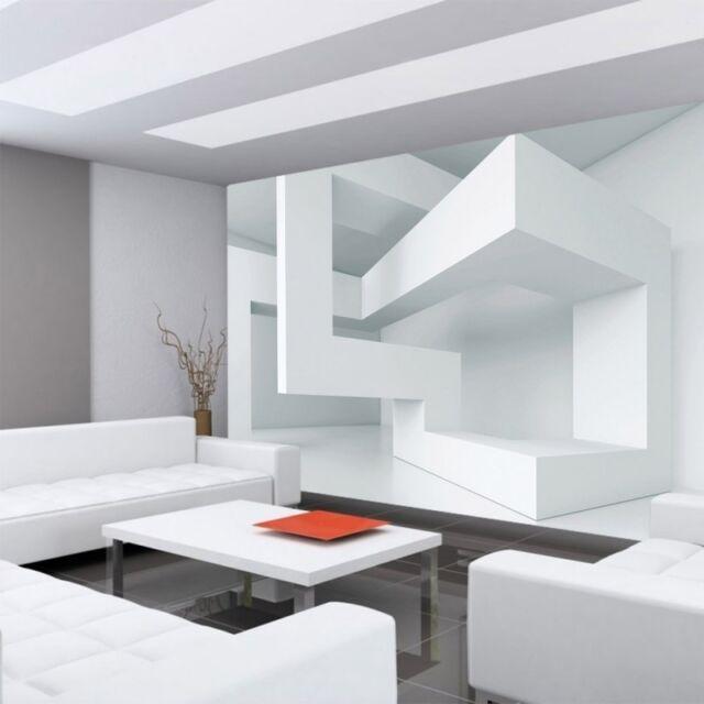 Fleece Photo Wallpaper no. 592 ! 3D wallpaper Abstract Line Corners 3D white