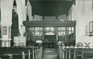 EAST-LOOE-Parish-Church-Postcard-nr-Plymouth-CORNWALL-Anon