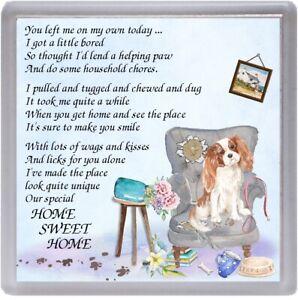 Cavalier-King-Charles-Spaniel-Dog-Coaster-034-HOME-SWEET-HOME-Poem-034-by-Starprint