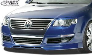 RDX Spoilerlippe für VW Passat B6 Typ 3C Ansatz Schwert Front Lippe Spoiler
