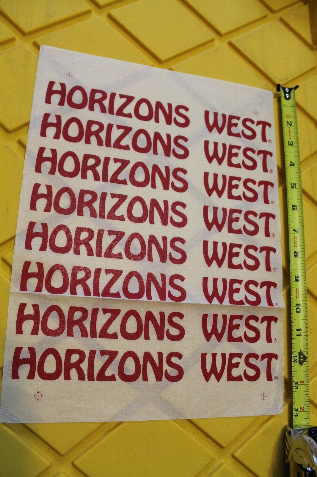 HORIZONS WEST Surfboard Zephyr Dogtown Z-Boy Nathan Pratt Laminating Decal Sheet