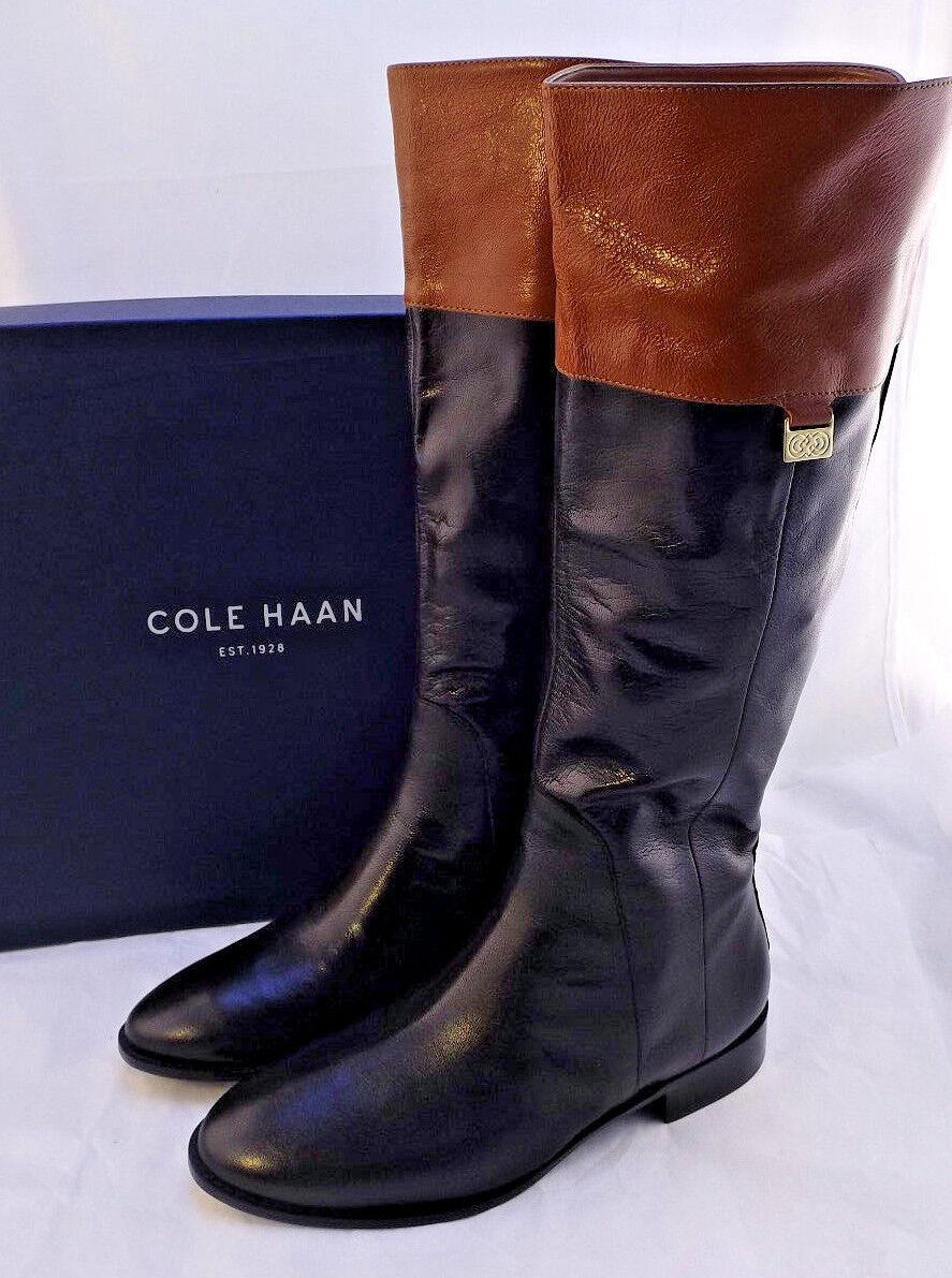 Nuevo Cole Haan Walden M De Cuero Negro botas de montar al por menor