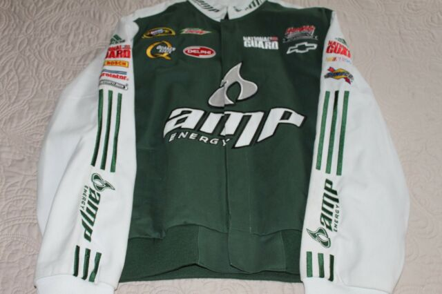DALE EARNHARDT JR AMP ENERGY DRINK COTTON TWILL JACKET CHASE AUTHENTICS NASCAR