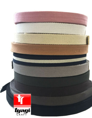 BUNTING WEBBING DECORATION HANDLES TRIM EDGE BELTS STRAPS 25mm CANVAS TAPE