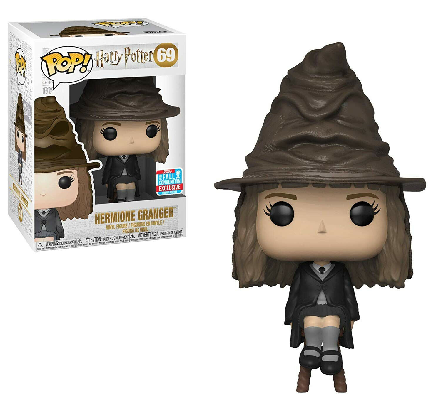 Funko POP Harry Potter  Hermione with Sorting Hat Fall Convention