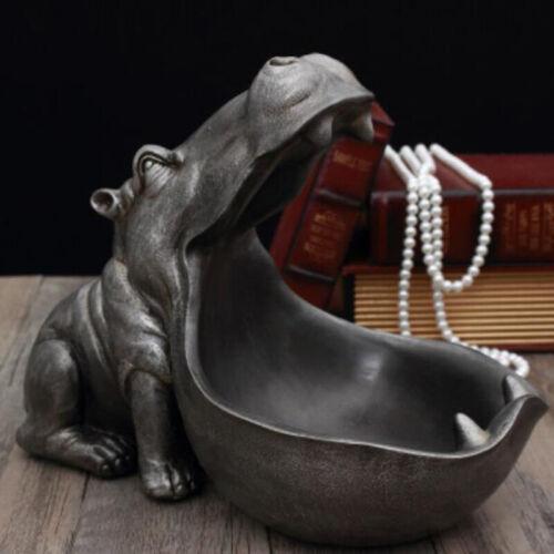 Hippopotamus statue decoration resin artware sculpture statue home decorati.LJ3C
