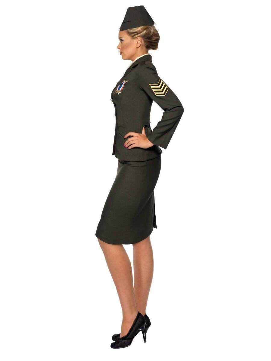 Smiffys Wartme Offizier Offizier Offizier Armee Militär Grün Erwachsene Damen Halloween Kostüm | Preiszugeständnisse  | Rabatt  | Elegantes und robustes Menü  d69b0b