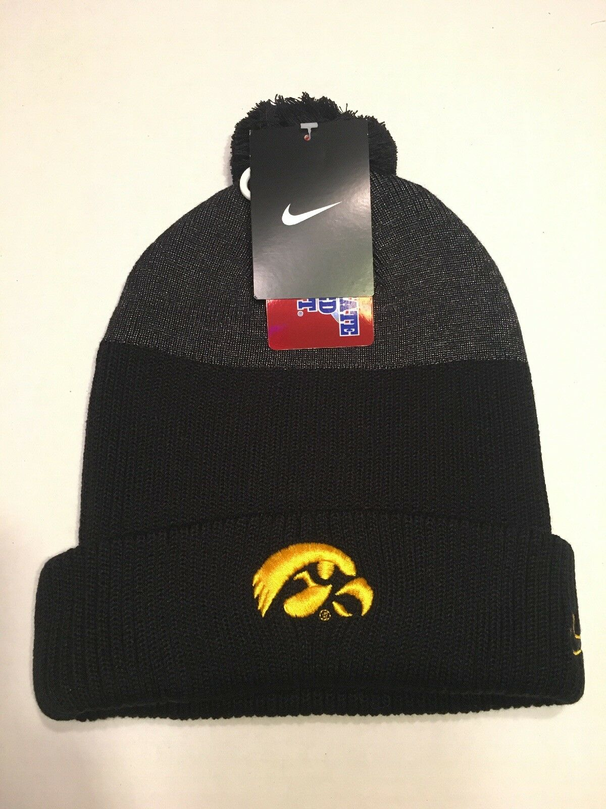 f3990a20 Nike Men's College Day Cuffed Beanie Hat Pom Top Iowa Hawkeyes 1 ...