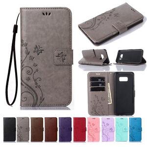 Pour-Samsung-Galaxy-S7-S8-S9-S10-S20-PLUS-etui-Portefeuille-en-cuir-magnetique-flip-cover
