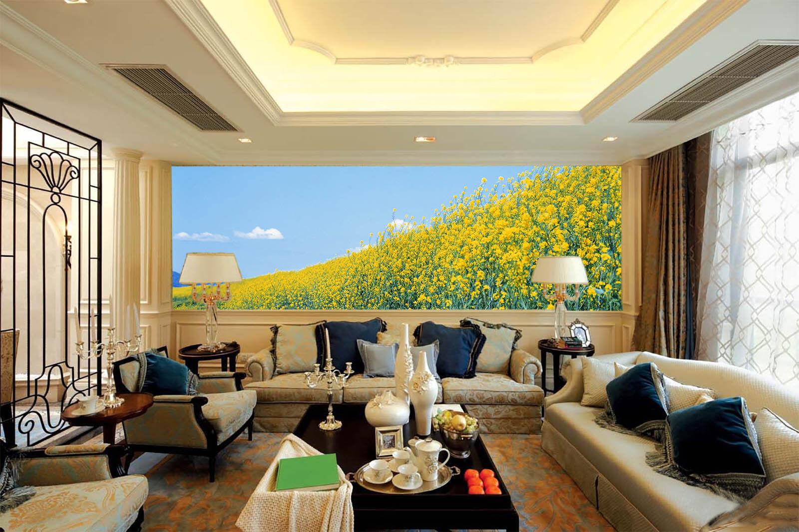 3D Golden Flowers 75 Wall Paper Murals Wall Print Wall Wallpaper Mural AU Kyra