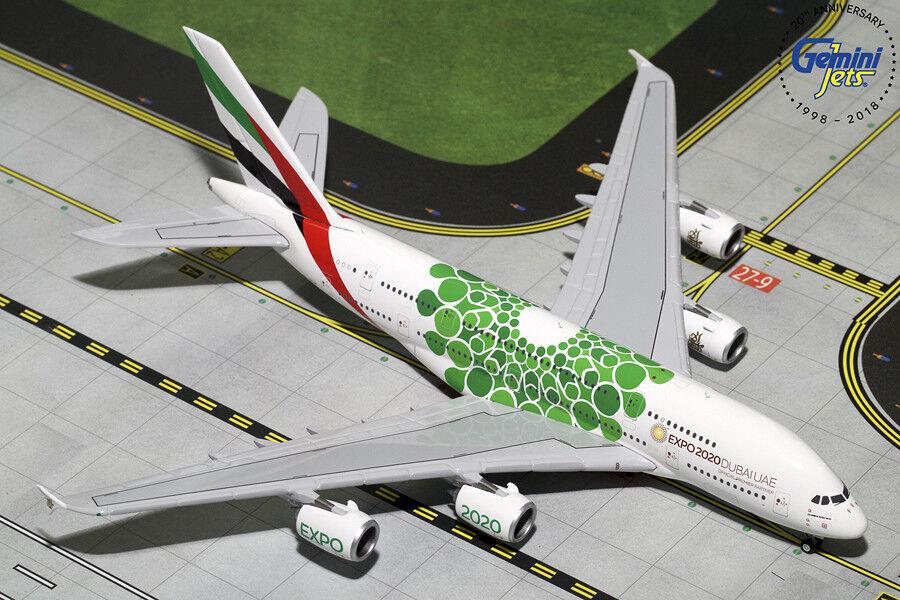 compras de moda online Gemini Jets Emiratos Airbus A380-800 1 1 1 400 Diecast Expo 2020 gjuae 1788 En Stock  más orden