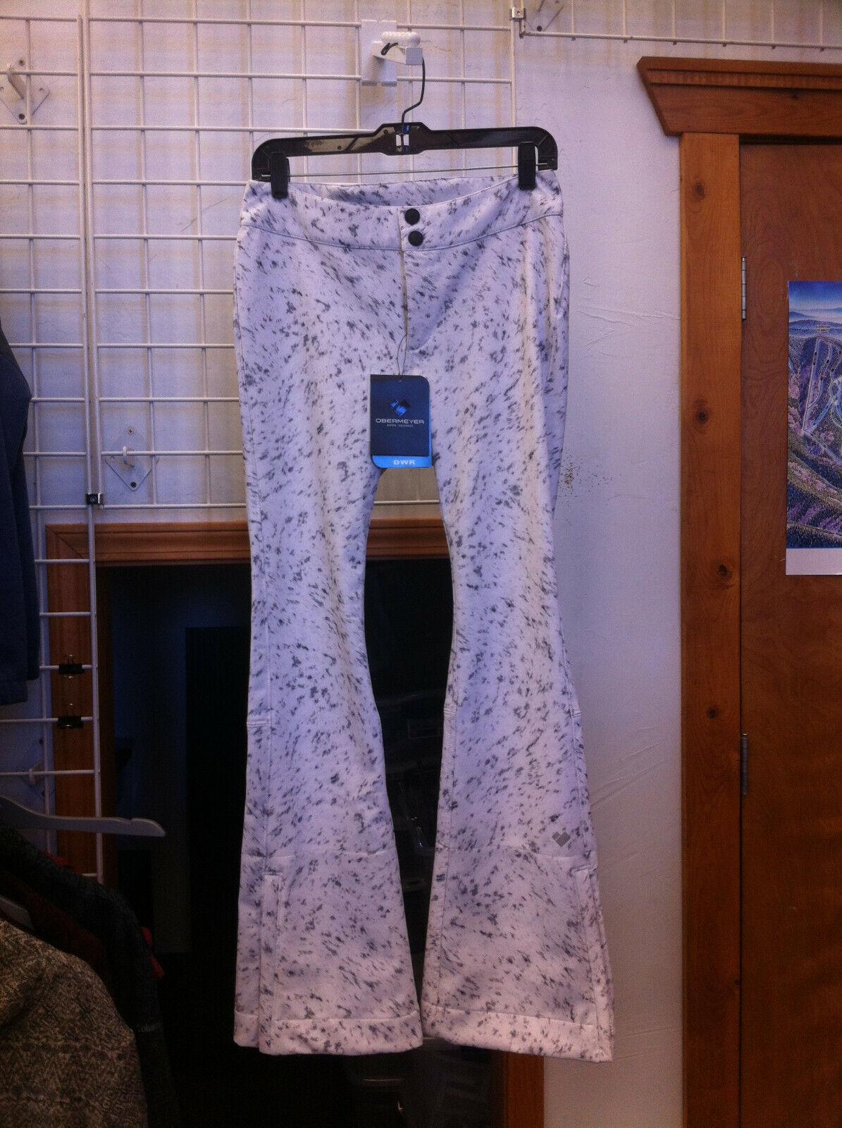 Women's Obermeyer Printed Bond Pant  color Feline Frost size 6 regular  lowest prices