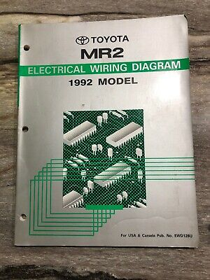 Toyota MR2 1992 Electrical Wiring Diagram Pub. No. EWD128U ...
