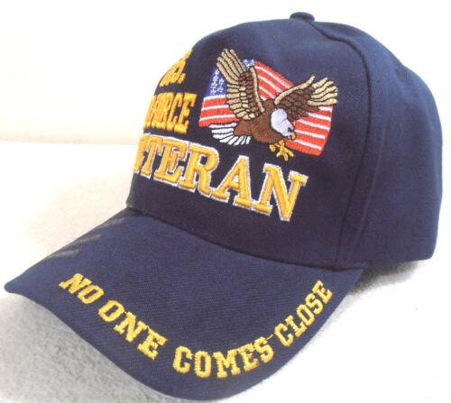 MILITARY CAP U.S AIR FORCE VETERAN NO ONE COMES CLOSE HAT NAVUBLUE