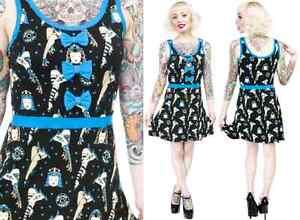 130035-Black-amp-Blue-Derby-Darling-Dress-Sourpuss-S-Small-Roller-Skates-Retro