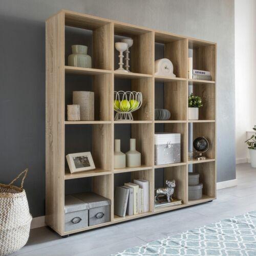 Bücherregal Holz SARA Standregal Regal Aufbewahrungsregal Holzregal Raumteiler