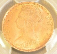1901 H China Hong Kong One Cent Victoria Copper Coin PCGS MS 64 RB
