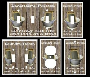 Details About Laundry Room Sorting Out Life Wash Board Tub Rustic Light Switch Cover Plate