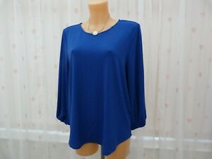 Blue Blouse L Sz Adrianna Bnwt Papell Royal top lT1JKcF3