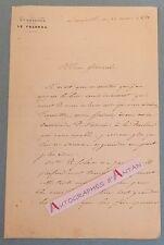 L.A.S 1853 Colonel ROBINET DE PLAS Général RENAULT Régiment 6è DRAGONS Lunéville