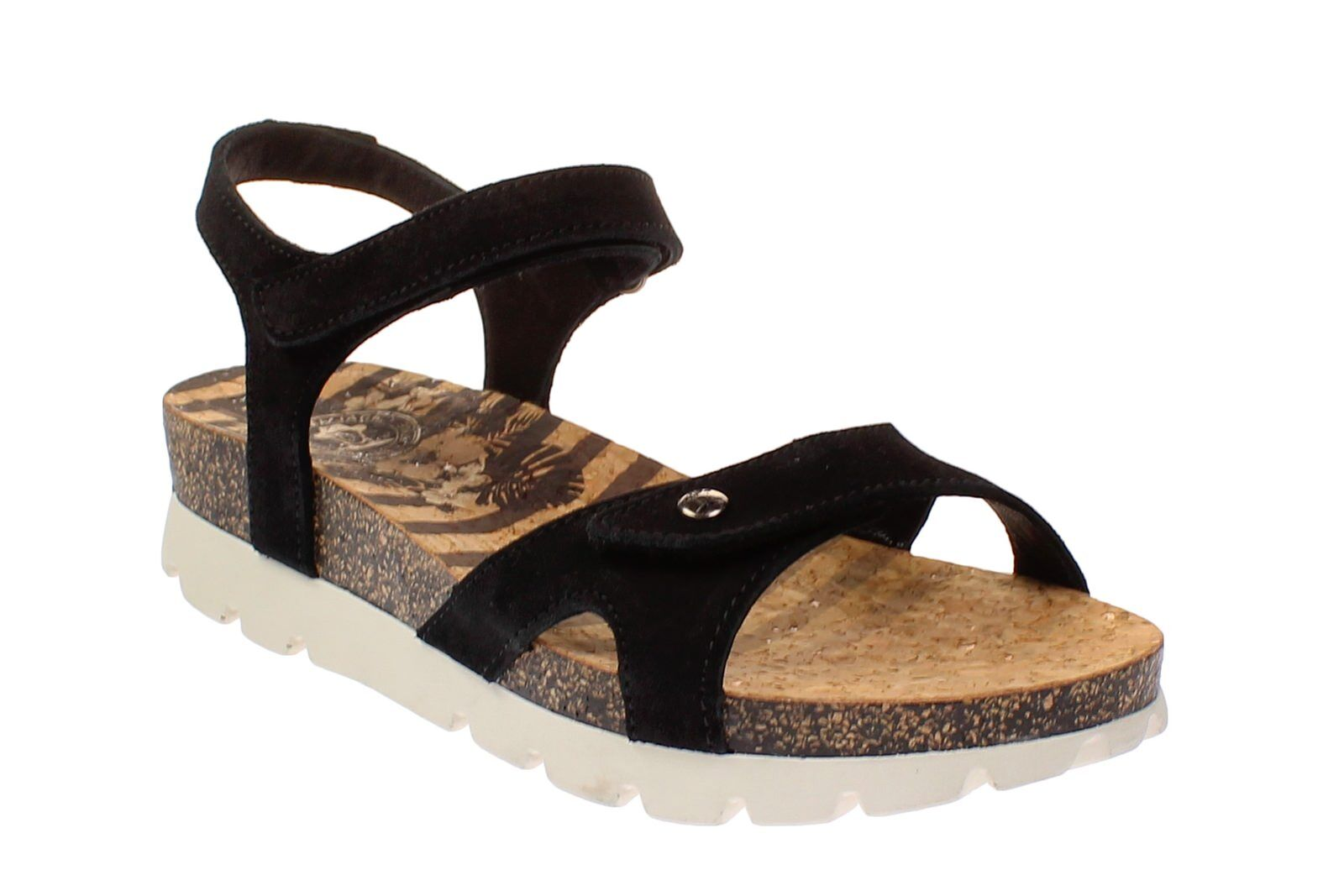 Panama Sailor-zapatos Jack Sulia Sailor-zapatos Panama señora sandalias-b1-velourblack 315a87