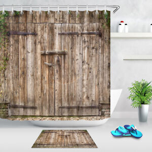 Image Is Loading Rustic Barn Wooden Door Old Lock Bath Shower