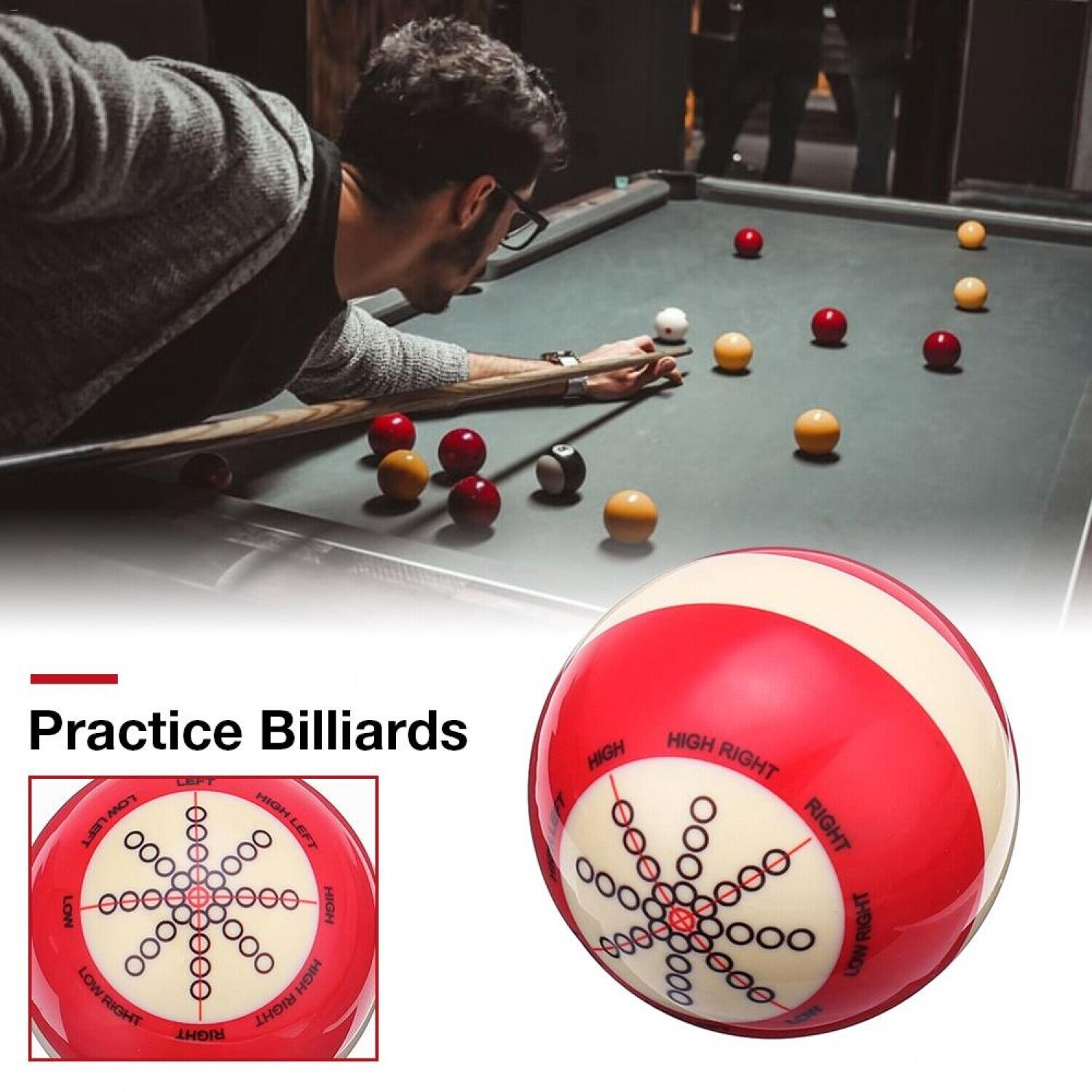 Pro Pool Table Cue Ball Billiard Pool Practice Training Cue Ball Replacement