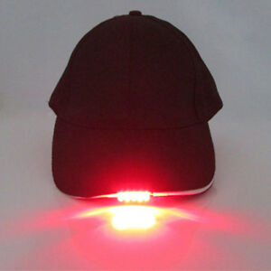 a75f1eb23 Details about Baseball Cap with 5 LED Lights-Adjustable Strap Hat Fishing  Camping Hiking